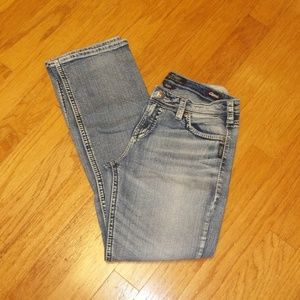 Silver Suki High Baby Boot stretch jeans 32 X 33
